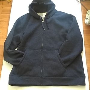 Weatherproof Navy blue hooded zip sweater